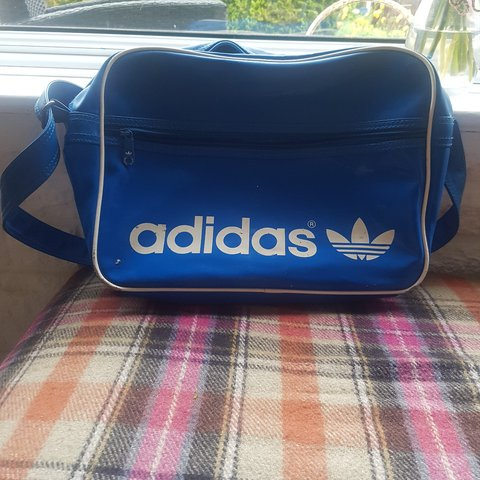 1667b49d1b ADIDAS retro sports bag. Blue authentic Adidas originals & a - Depop