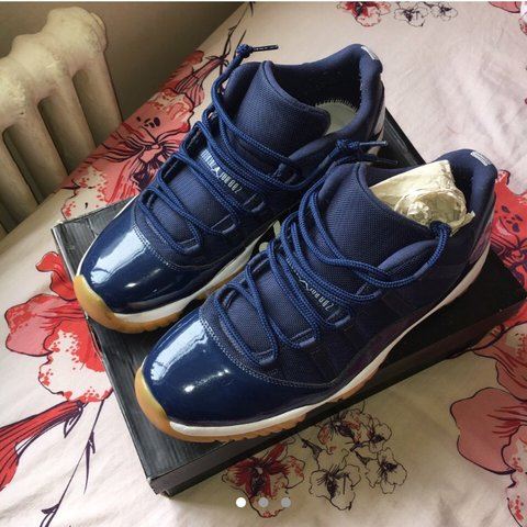 Air Jordan 11 Blue 100% authentic Only worn a couple times - Depop 8153298c7