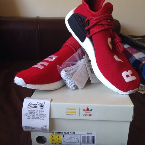 46da6d0136505  axis07. 3 years ago. Italia. Adidas NMD Human Race Red Pharrell Williams  size US 9.5 - UK ...