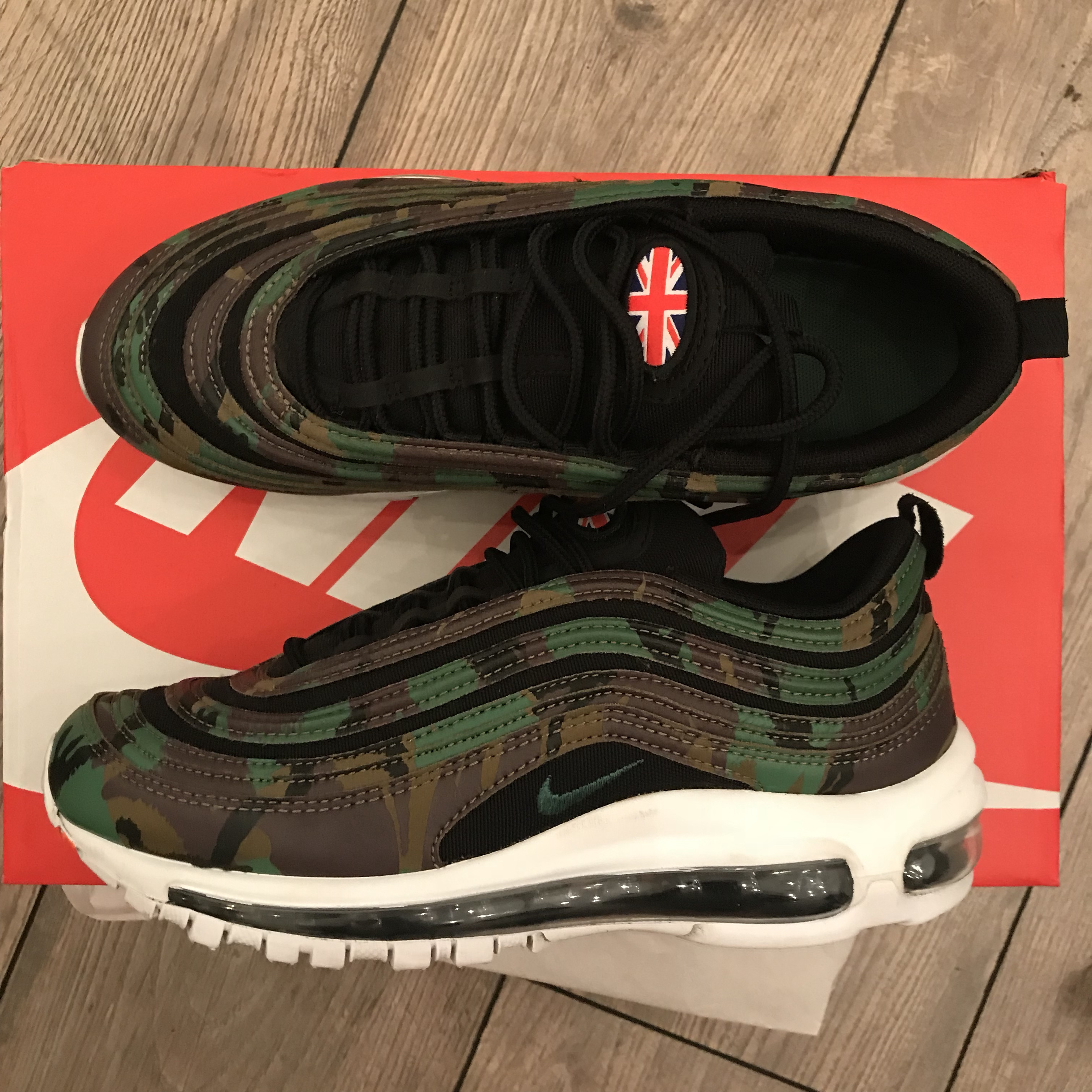 new concept 1f631 88c48 Nike air max 97 country camo UK size 6 - worn max 5... - Depop