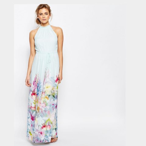 7426343624e1 REDUCED Ted Baker floral hanging gardens border maxi dress. - Depop