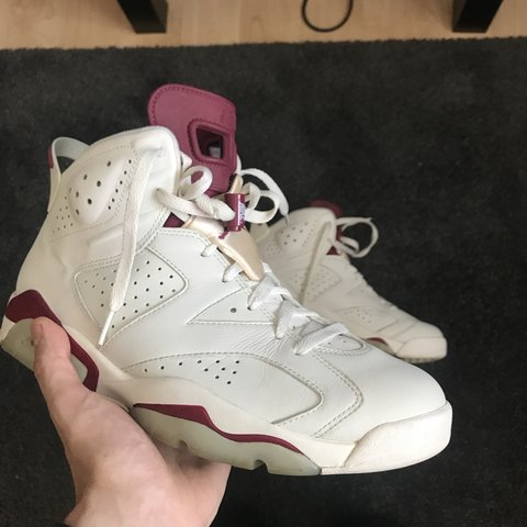 "732b3a058f1d 2015 Nike Air Jordan 6 ""Maroon"" 9 10 condition with slight - Depop"
