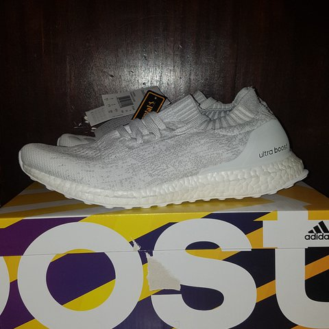 86485dd01d9c0 Adidas Ultra Boost Uncaged - All White - Size 9 Box Fresh - - Depop