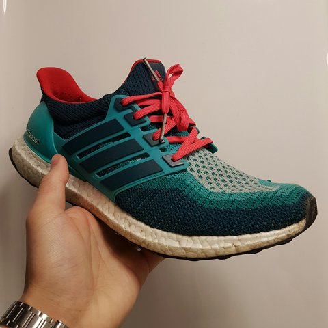 0375e4fbe @alexzywong. 2 months ago. Newcastle upon Tyne, UK. Adidas Ultra Boost 2.0  red and blue ...