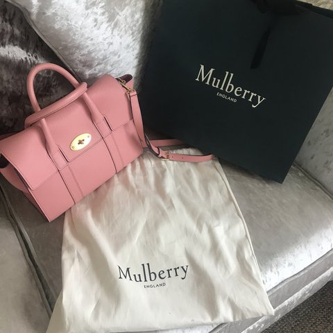 df6e4f3330 GENUINE Small Mulberry Bayswater in macaroon pink . Bought 3 - Depop