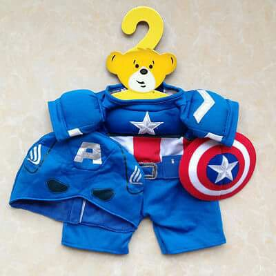 Build A Bear Avengers Capt America Outfit NWT