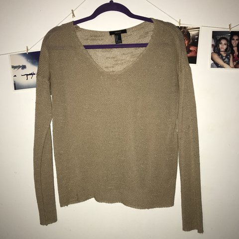 a42653fc6e2 Cute forever 21 knitted sweater! Meant to look a little S M - Depop
