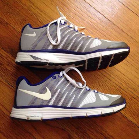 new style ce695 ac6d4 @michellehuang. 4 months ago. Lindenhurst, NY, USA. Nike lunar elite 2  sneakers. Gray and white with blueish purple ...