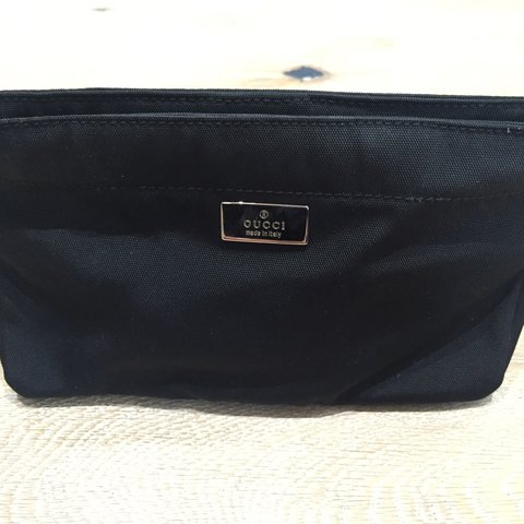 2447c3219950ec @arossy. 3 years ago. Chigwell, UK. Gucci make up/ toiletry pouch. Used but  in excellent clean ...