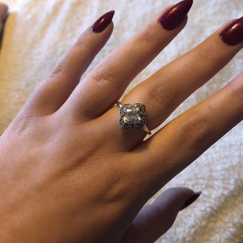 cc7a45069 Thinking about selling my pandora ring - size 58 Really and - Depop
