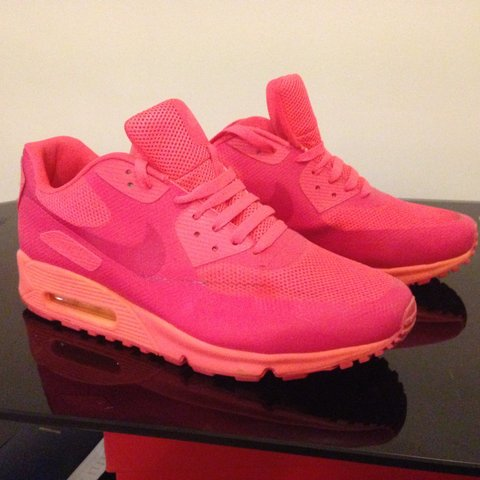 innovative design 4b50a 5f72b  jimmy cee86. 3 years ago. Maidstone, UK. Nike air max 90 hyperfuse in  vivid pink orange .