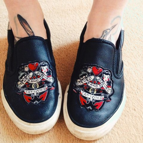 6433f0b7478b Converse Sailor Jerry shoes! Stewed Screwed and Tattooed