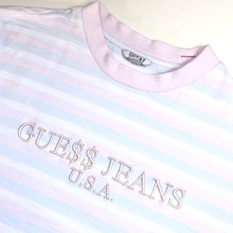 cb69e7c26979 @hollymaygee. 2 months ago. Leeds, United Kingdom. Vintage guess jeans x  ASAP Rocky striped t shirt - size ...