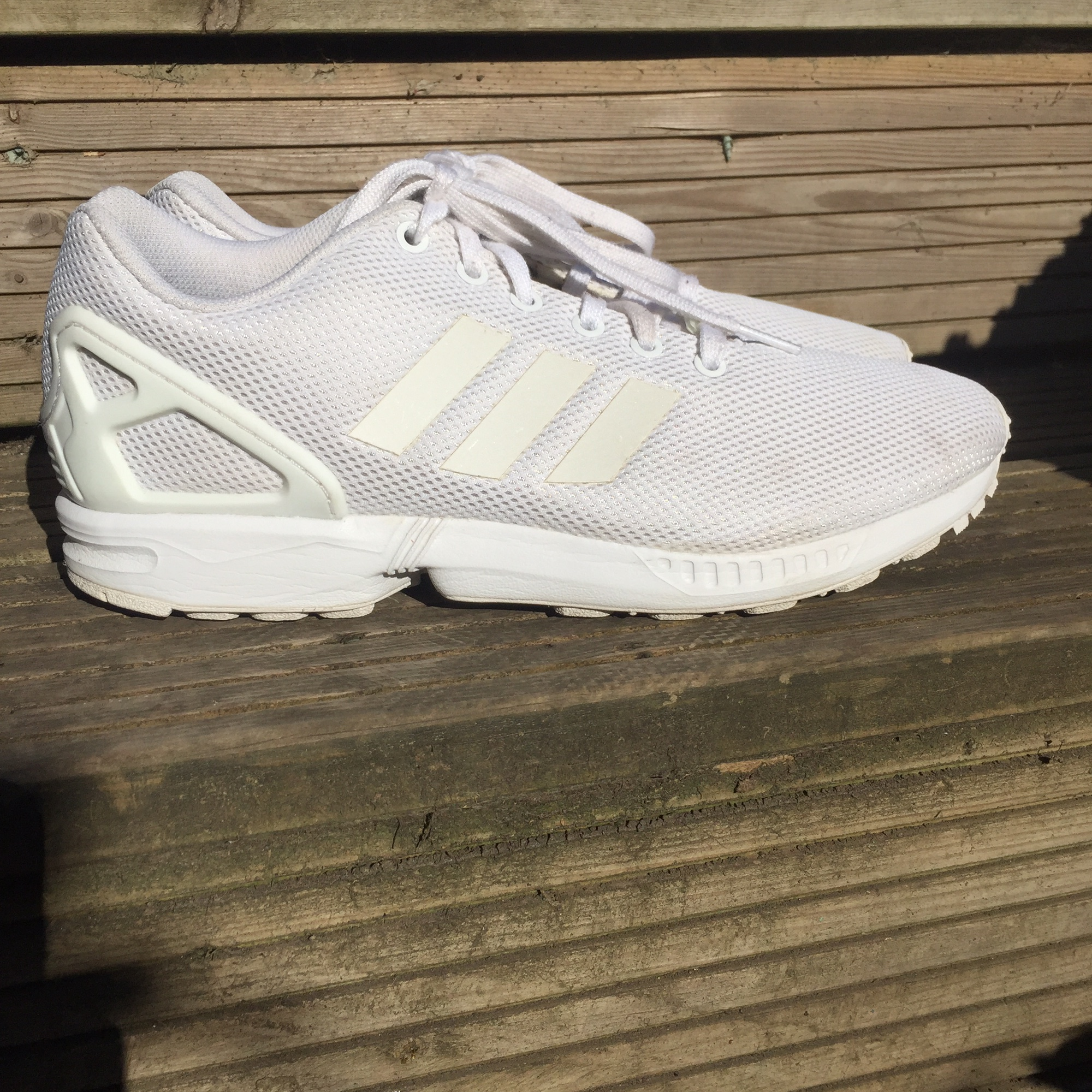 size 40 809ae f3662 Adidas zx flux triple white open to offers size... - Depop