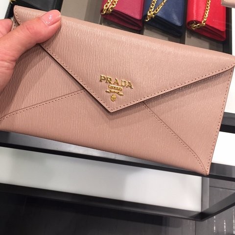 16cf8f898b5d @d_cassidy. 3 months ago. Derrycrib, Ireland. AUTHENTIC Prada small clutch  that can be used as a wallet only worn once perfect condition ...