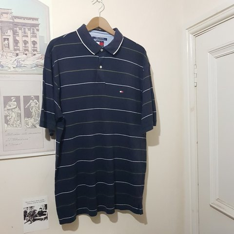 c9e02415 @peteinmanc. 4 months ago. Manchester, Greater Manchester, United Kingdom. Tommy  Hilfiger polo t-shirt. Navy w/ white and khaki green ...