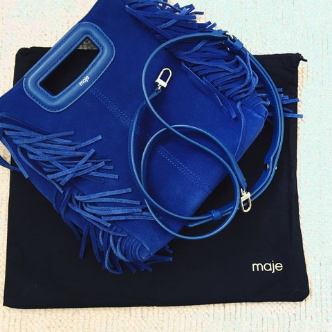 238fbe3f514e 🆘 ACCEPTING OFFERS! 🆘 MAJE blue M bag