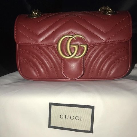 aa0f433a9095 @y0beamy. 3 months ago. Bournemouth, United Kingdom. Brand new sold out red Gucci  Marmont matelassé mini bag. Brand new never used ...