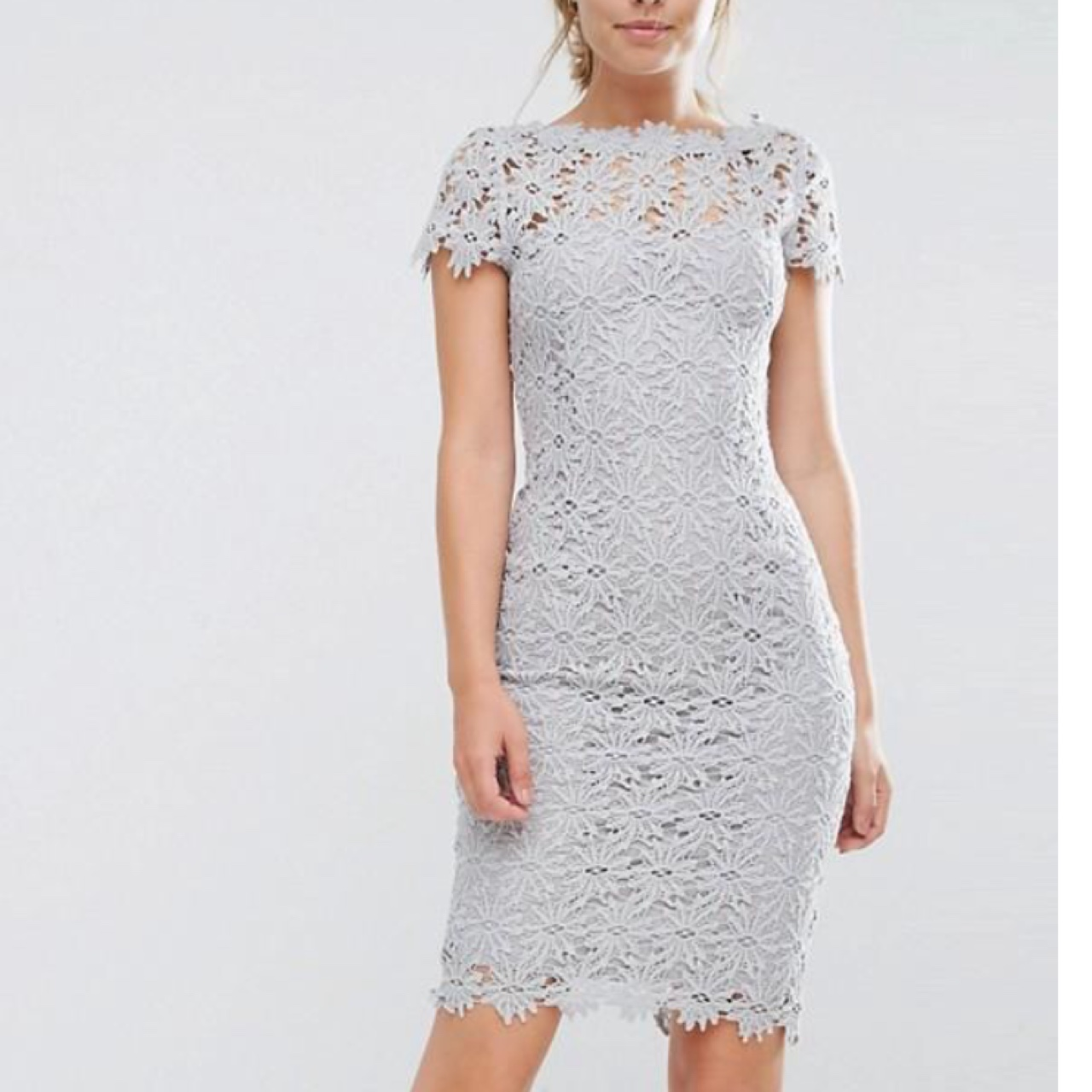 Paper Dolls Allover Lace Dress With Cap Sleeve Asos