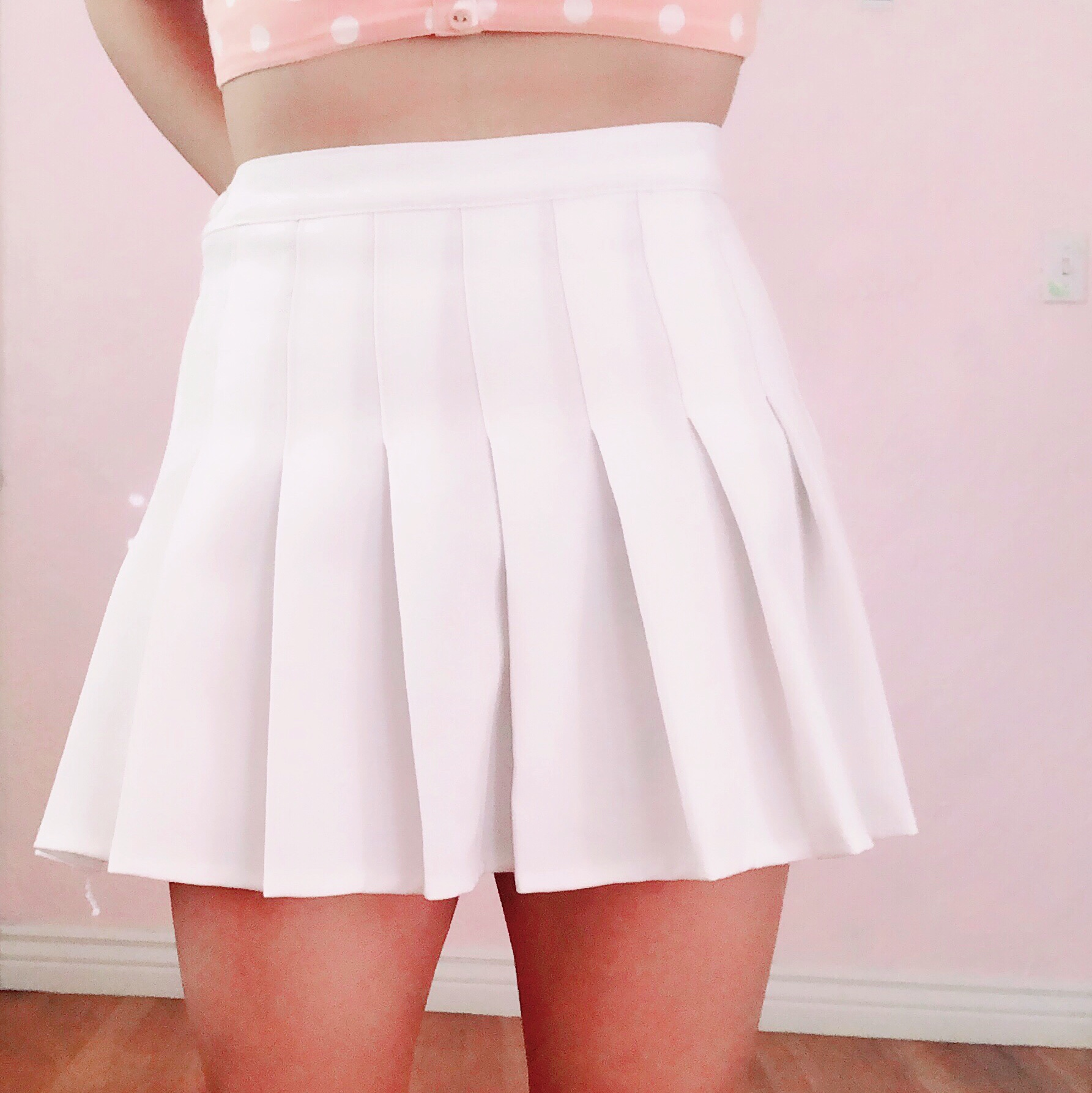 Aesthetic White Tennis Skirt Can Be Light And Cute Depop