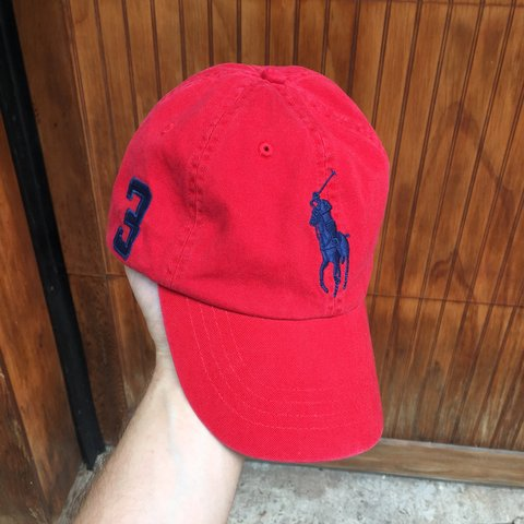 Polo Ralph Lauren Big horse  3 hat Great color red 6063710aaac6