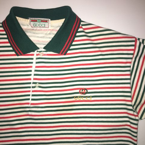 fd5af583c @ellukeo. last year. Brighton, UK. Vintage Gucci Polo Shirt size medium. An  unreal piece, in fantastic condition for its age.