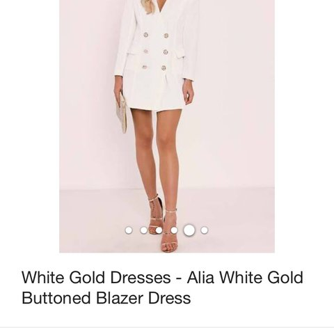 64adbe84a2545 In the style white blazer dress, brought off another Depop - Depop