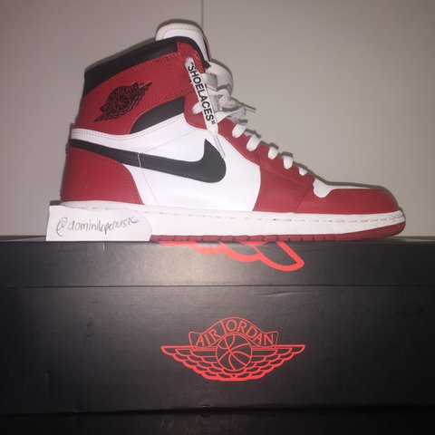 bfa3930758ca WTS Air Jordan 1 Chicago from the Year 2013 with Off-White - Depop