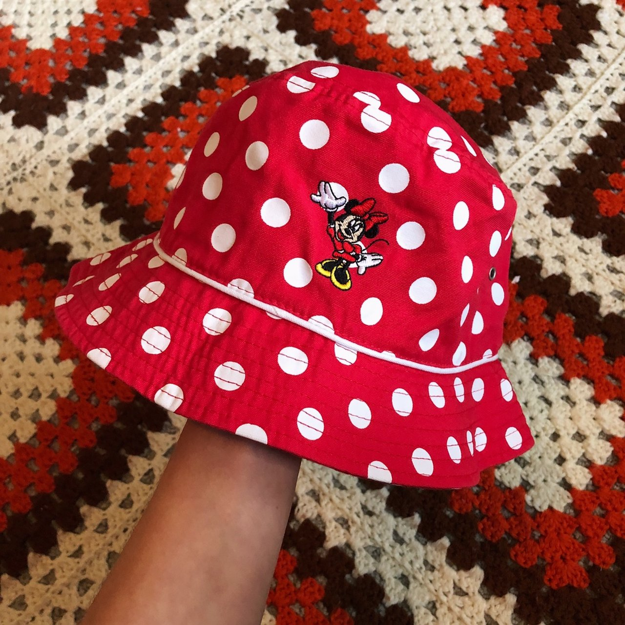 Minnie Mouse Bucket Hat 🍄 90 s vintage red and white Walt a - Depop d65a0835339