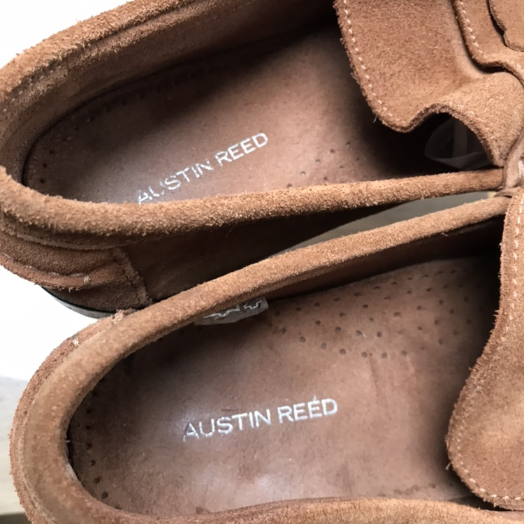 Austin Reed Mens Moccasins Brown Tan Suede Leather Depop