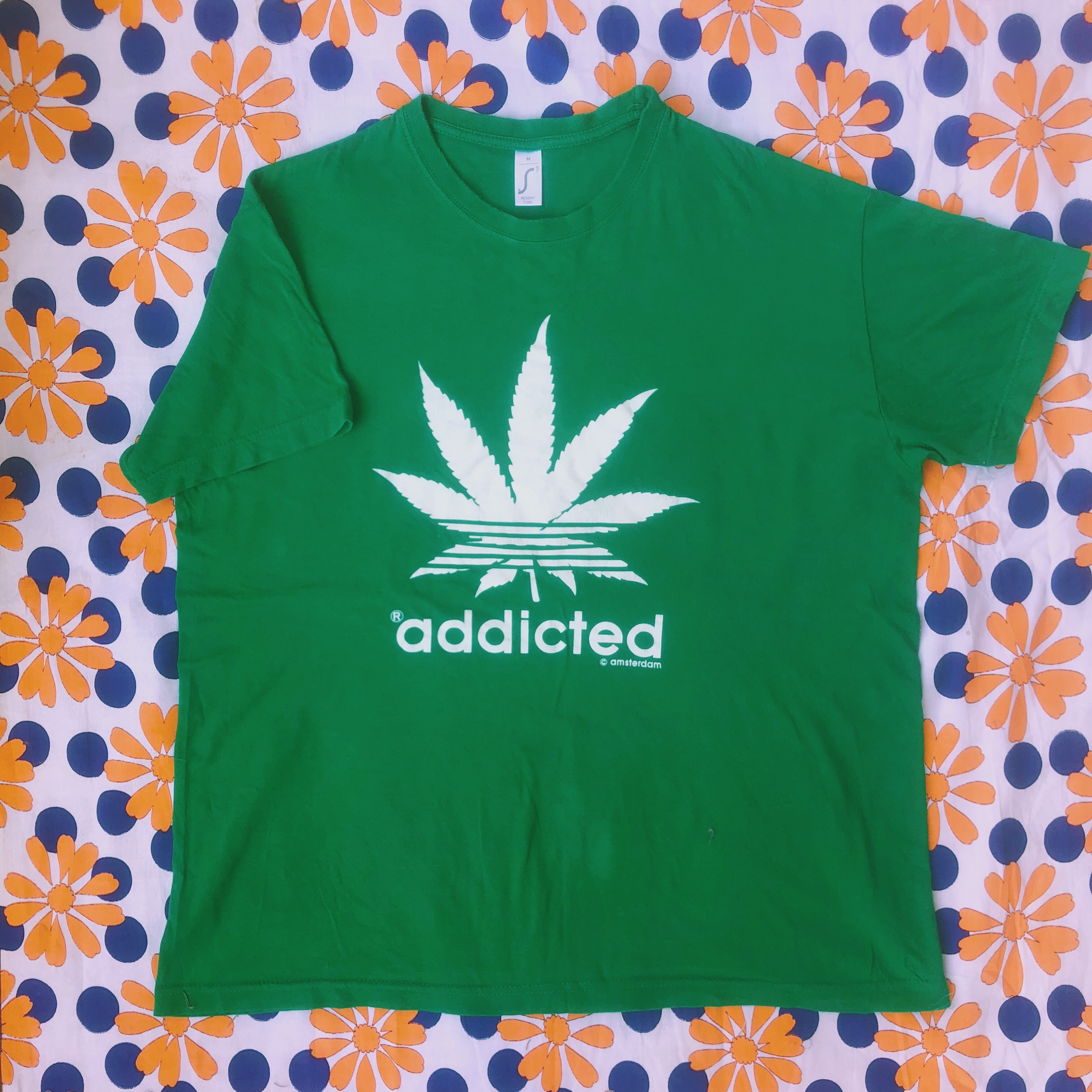 beauty lower price with new high quality Fake Adidas Amsterdam T-Shirt $11 w/ Free... - Depop