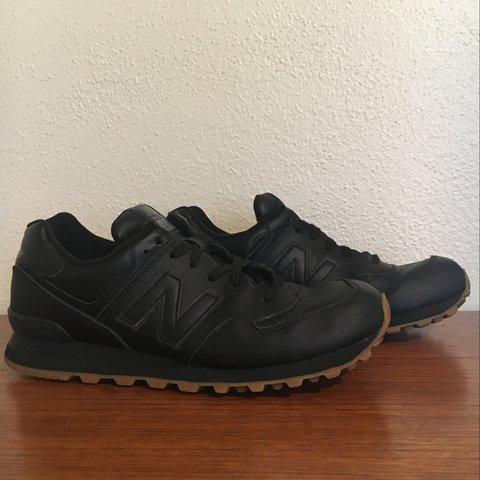 3m Depop LeatherReally Cool New Balance 574All Black Traction tQCshxrd