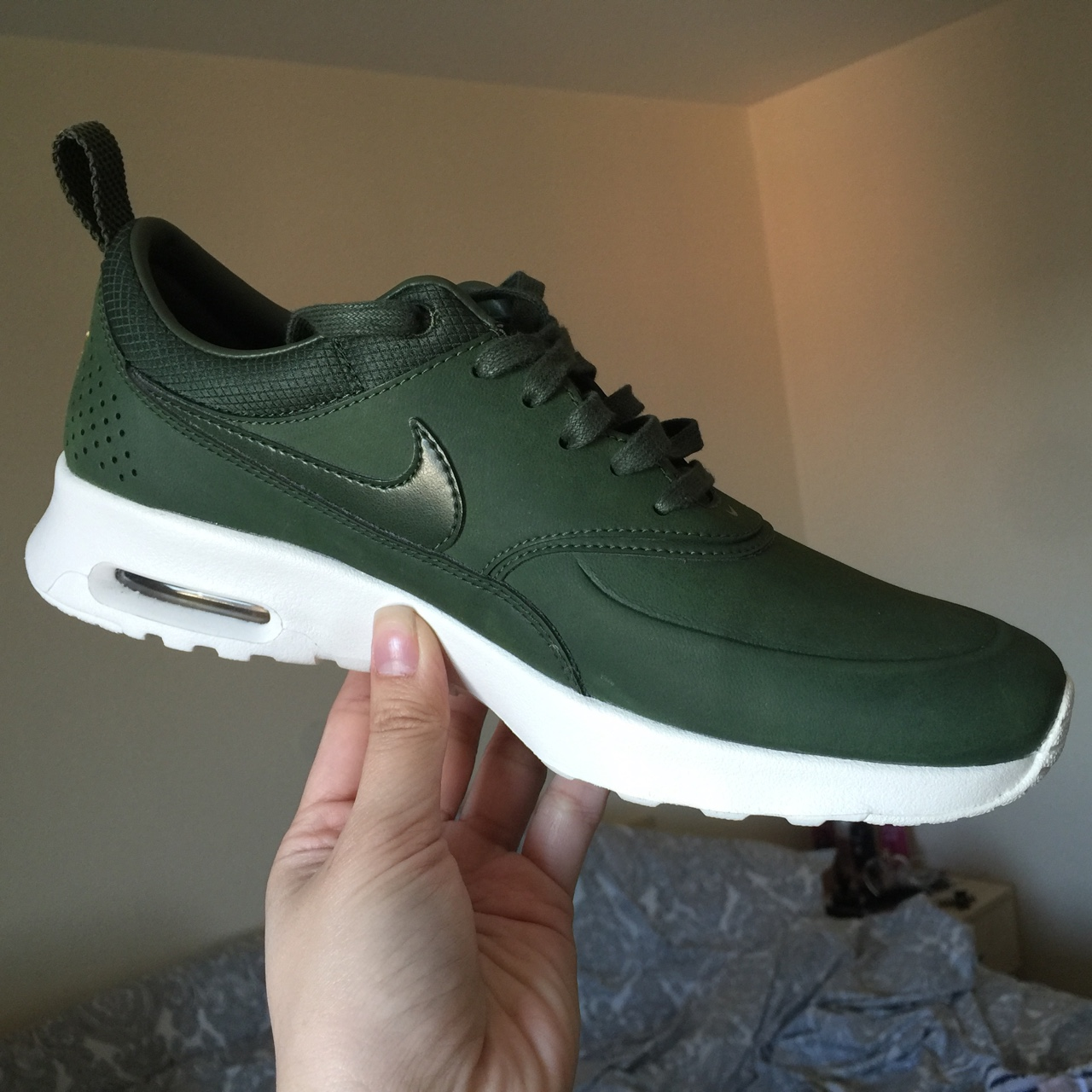 Details about Nike Air Max Thea PRM 616723 304 Green White Women's Shoes #12