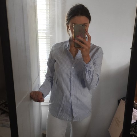 223877520a7 Lovely smart blue and white shirt from ASOS