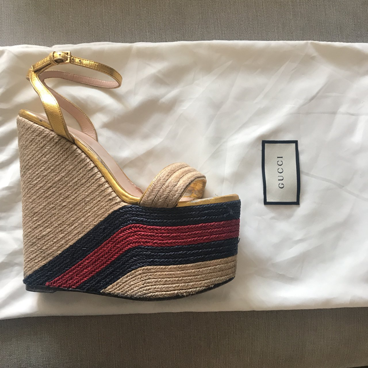bd3f3dc33ae GUCCI wedges 🔆🔅 PAYED £560 Accepting offers to  GUCCI  4 - Depop