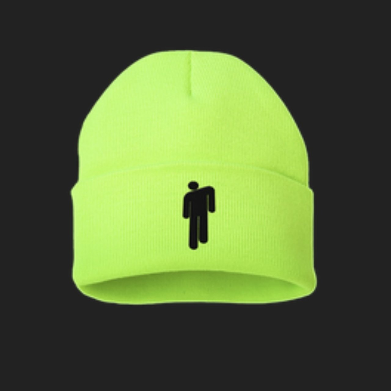 7888c25f Might sell this Billie Eilish blohsh yellow beanie merch on - Depop