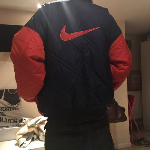 696b6daa0f MAKE ME OFFERS  ) Blue and orange vintage nike logo jacket - - Depop