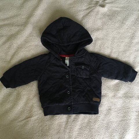 ab6c0c18c Jasper conran junior j navy blue quilted jacket Baby 0-3 - Depop