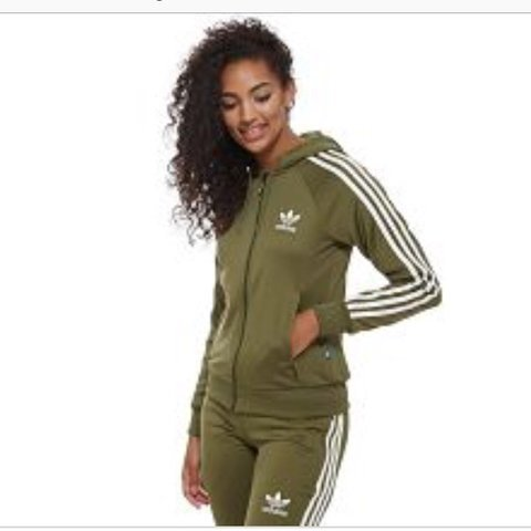 7a4a9f02a34 Khaki Adidas zip up tracksuit Bottoms 8 top 6! JD ASOS - Depop