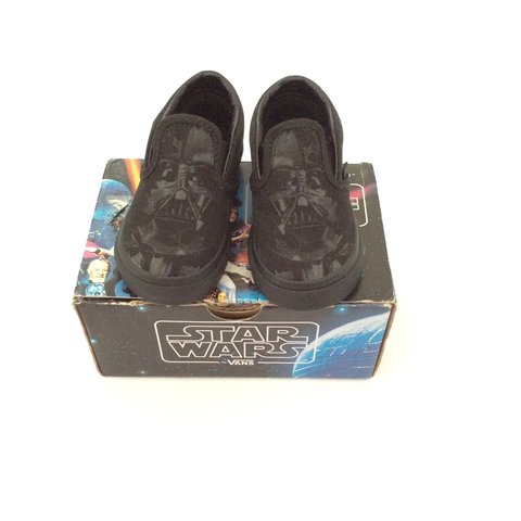 c752cb0a2f New with box never been worn black star wars Vans infant 5 - Depop