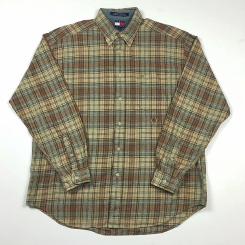 c51acaf1 @witheshin. 2 years ago. Stourbridge, West Midlands, UK. Vintage Tommy  Hilfiger flannel shirt size Large. Excellent condition.