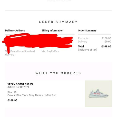 Yeezy boost blue tint 350 v2 size 10. Pm for details. for so - Depop 682b481ea