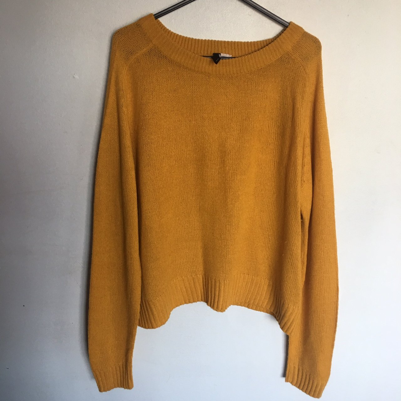 974fffc058 H M mustard yellow knitted jumper