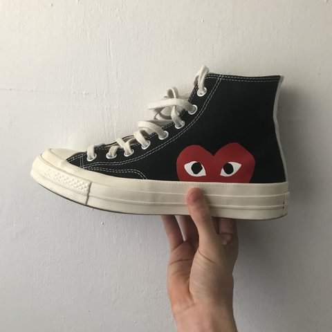 Converse x cdg size 7 U.K condition 8.5 10 worn handful of - Depop 02ed8074a