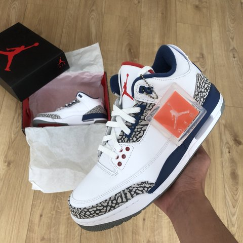 26f27be4ca93 Air Jordan 3 Retro OG True Blue UK 9. Brand New Deadstock. - Depop