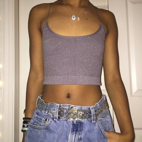 110a2ef3050a7f Urban Outfitters Out From Under grey crop tank top. Straps a - Depop