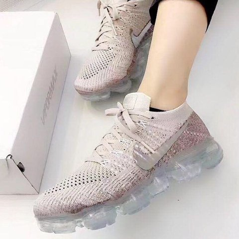 9483c5f83753 NIKE Air Vapormax Flyknit trainers in chrome-blush. UK size - Depop