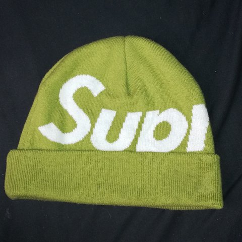 d5d66481439 SUPREME authentic big print beanie! This is Fall Winter i.e. - Depop