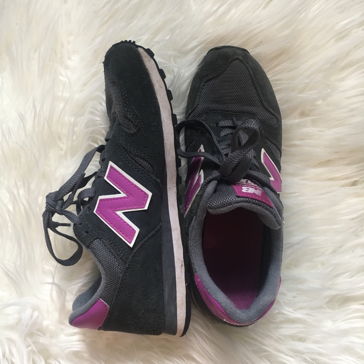 on sale 5a1e5 86328 New balance 373 modern classic navy and purple ~ in ...