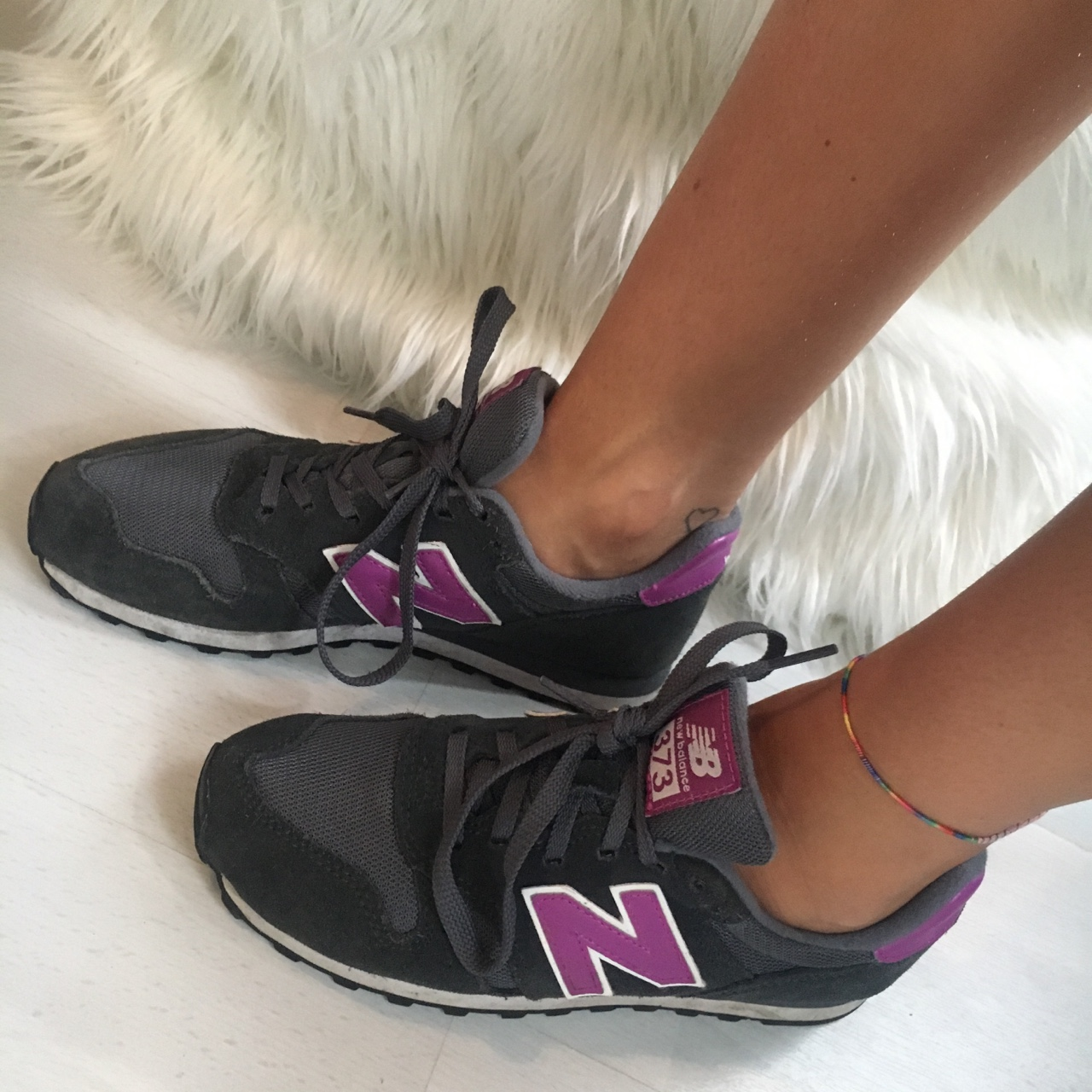newest 9dc26 3d720 New balance 373 modern classic navy and purple ~ in... - Depop